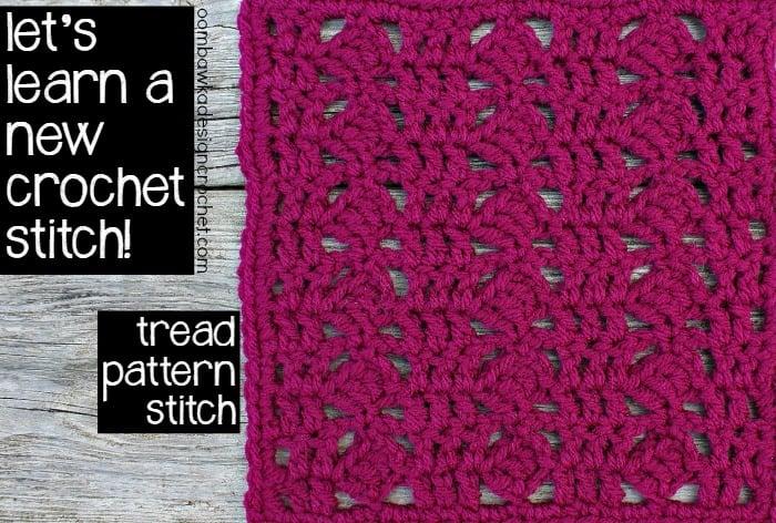 8x8 Tread Pattern Stitch Afghan Block ~ Oombawka Design