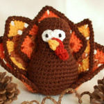 Thanksgiving Crochet Turkey ~ Petals to Picots