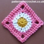 A Simple Granny Square ~ Patterns For Crochet