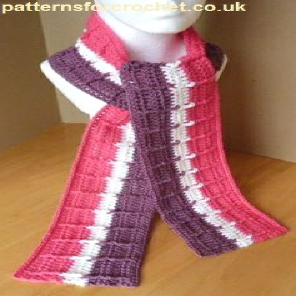Free Crochet Pattern Striped Scarf : Striped Raised Scarf ~ FREE Crochet Pattern
