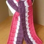 Striped Raised Scarf ~ Patterns For Crochet