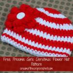 Girls Preemie Flower Hat ~ Cream Of The Crop Crochet