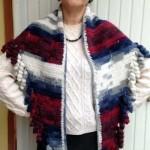 Small Sideways Shawl with Corkscrew Fringe ~ ABC Knitting Patterns