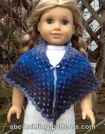 Knitting Pattern For Dolls Shawl : American Girl Doll Granny Shawl ~ FREE Crochet Pattern