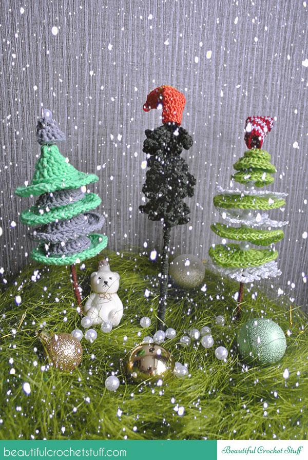 Crochet Christmas Trees ~ Jane Green - Beautiful Crochet Stuff