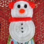 Brr Snowman Towel Holder ~ DragonFlyMomof2 Designs