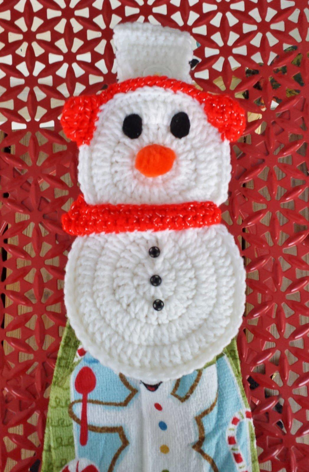 Brr Snowman Towel Holder ~ DragonFlyMomof2 Designs