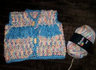 Crochet Easy Newborn Vest ~ Cats-Rockin-Crochet Fibre Artist