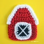 Crochet Barn Applique ~ Repeat Crafter Me