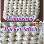 Crochet Embossed Pocket Stitch ~ Meladora's Creations