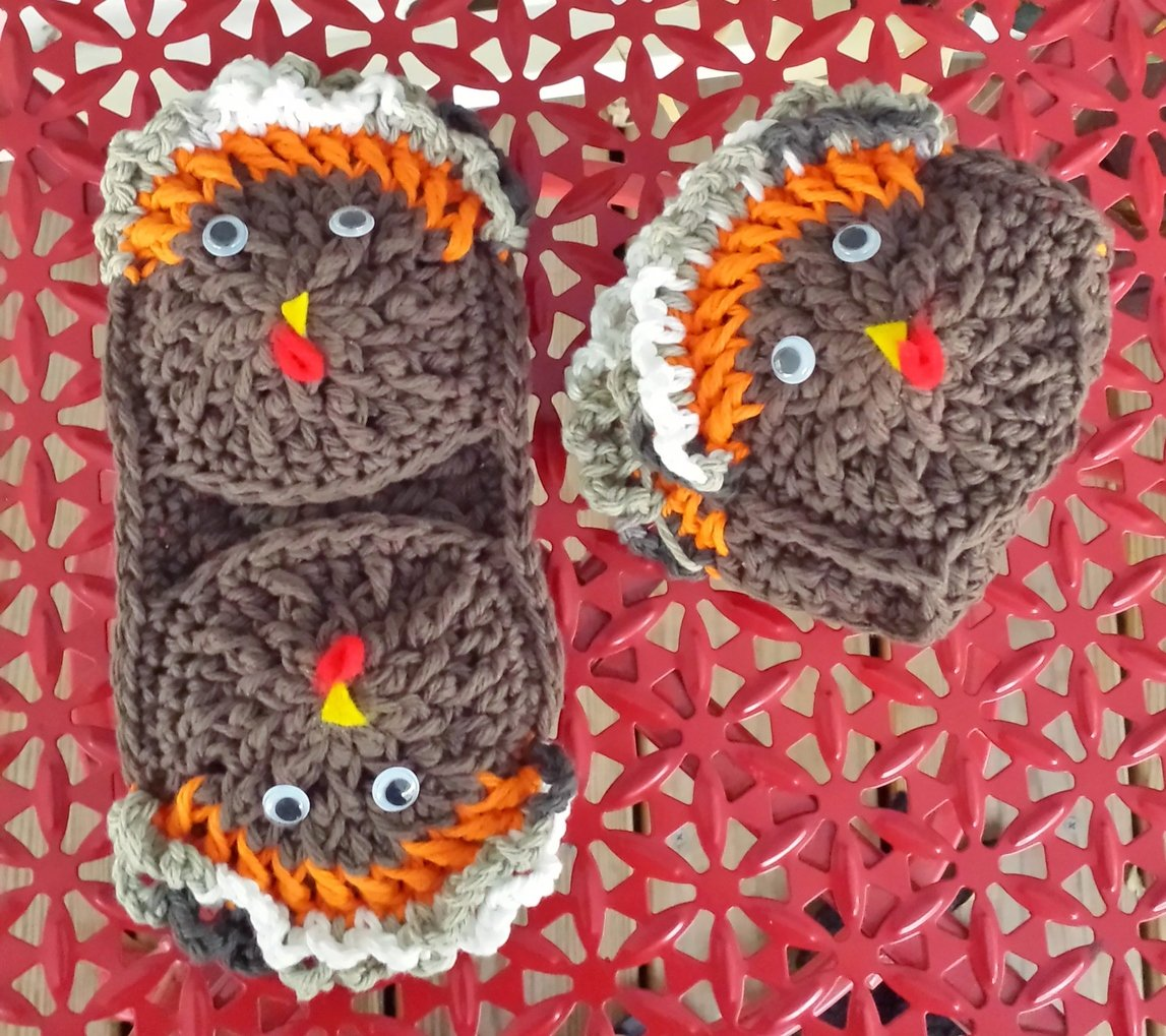 Double Gobble Microwave Mitts ~ DragonFlyMomof2 Designs