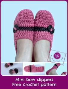 Mini Bow Slippers ~ Be A Crafter xD