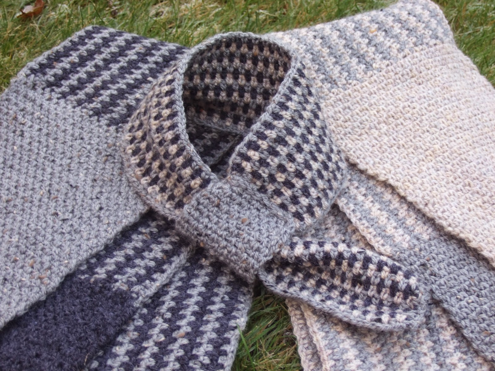 His 'N' Hers Linen Stitch Scarf ~ Made By Joanne