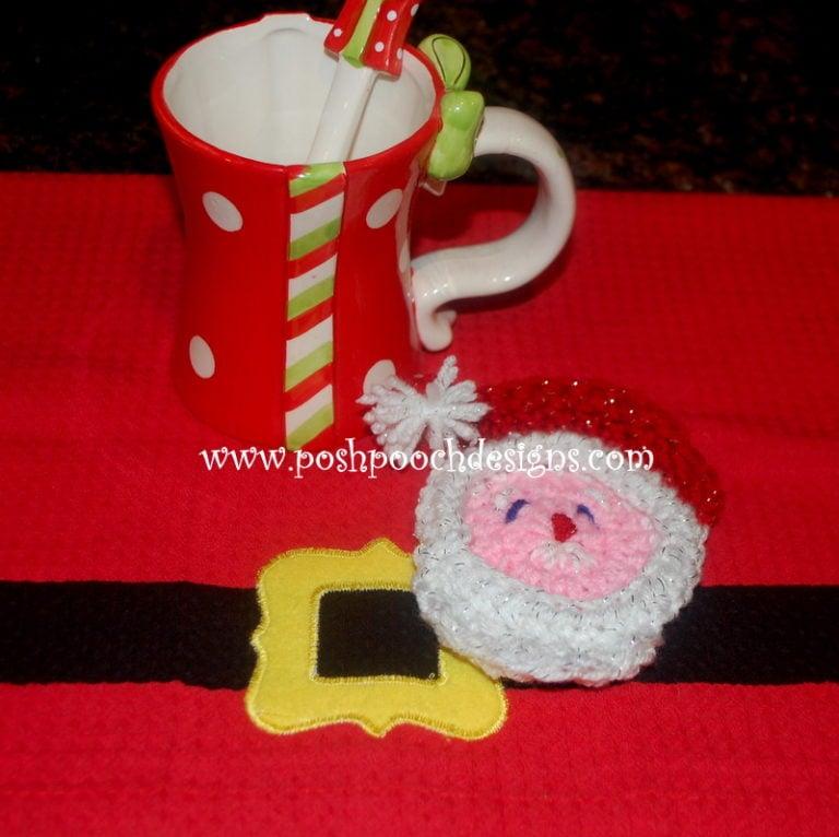 Santa Claus Coaster ~ Sara Sach - Posh Pooch Designs