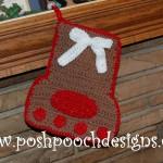 Paw Print Christmas Stocking ~ Sara Sach – Posh Pooch Designs