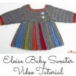 Eloise Baby Sweater Tutorial ~ Moogly