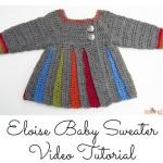 Eloise Baby Sweater Tutorial ~ Moogly