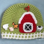 Crochet Farm Hat with Picket Fence Border ~ Repeat Crafter Me