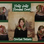 Holly Jolly Christmas Hooded Cowl ~ Sara Sach -Posh Pooch Designs