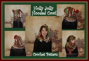 Holly Jolly Christmas Hooded Cowl ~ Sara Sach - Posh Pooch Designs
