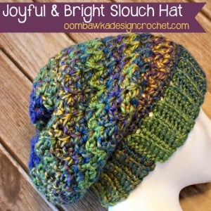 Joyful and Bright Slouch Hat ~ Oombawka Design