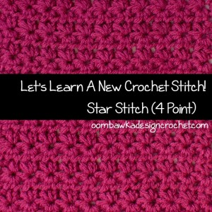 Star Stitch - Marguerite Stitch ~ Oombawka Design