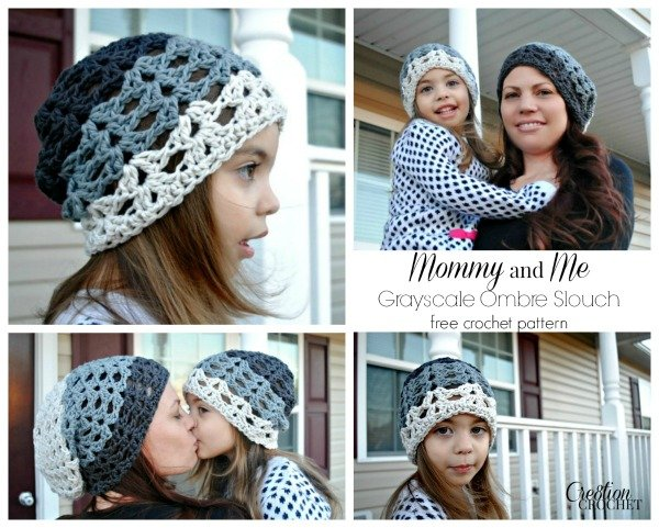 Grayscale Ombre Slouch ~ Cre8tion Crochet