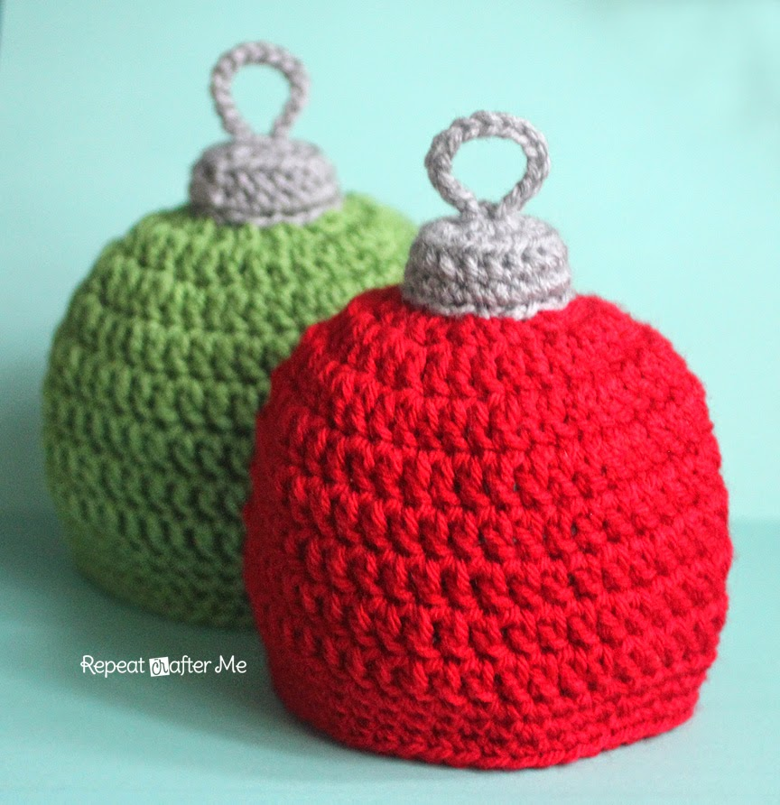 Christmas Ornament Hat ~ Repeat Crafter Me