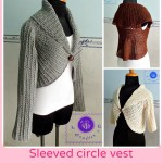 Crochet Sleeved Circle Vest ~ Maz Kwok's Designs