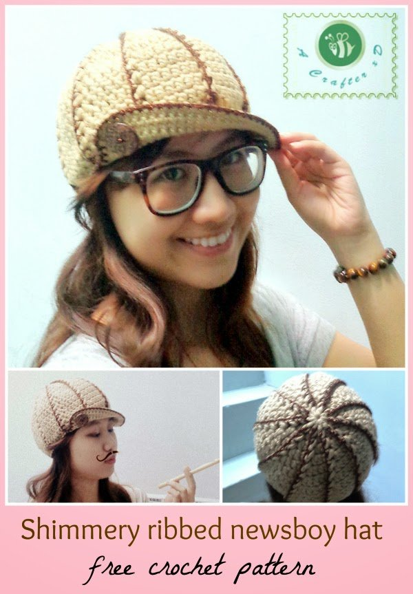Shimmery Ribbed Newsboy Hat ~ Be A Crafter xD