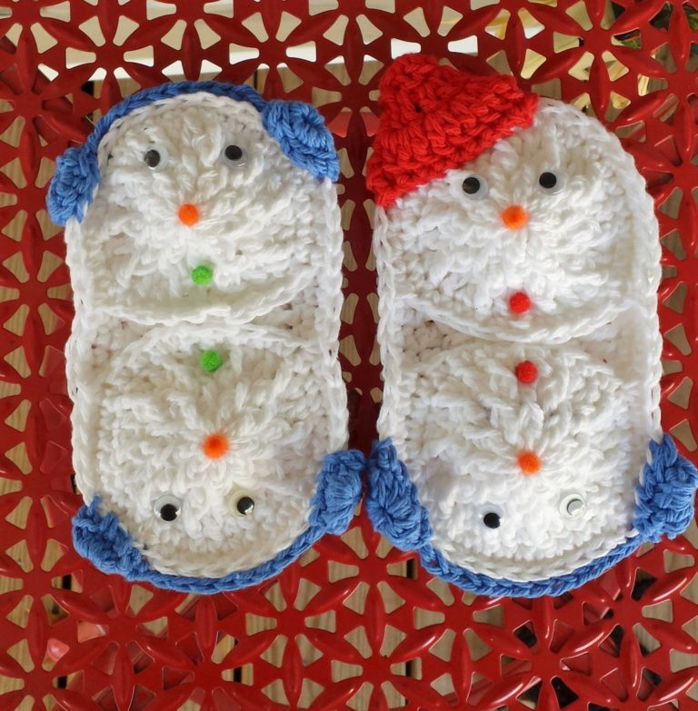 Snowball Microwave Mitts ~ DragonFlyMomof2 Designs