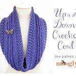 Ups and Downs Crochet Cowl ~ Moogly