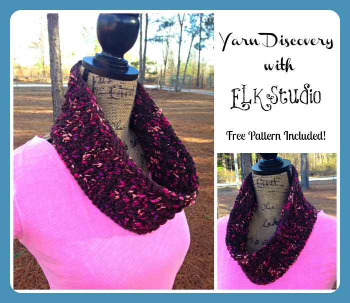 Chasing the Snow Cowl and Yarn Review ~ Kathy Lashley - ELK Studio