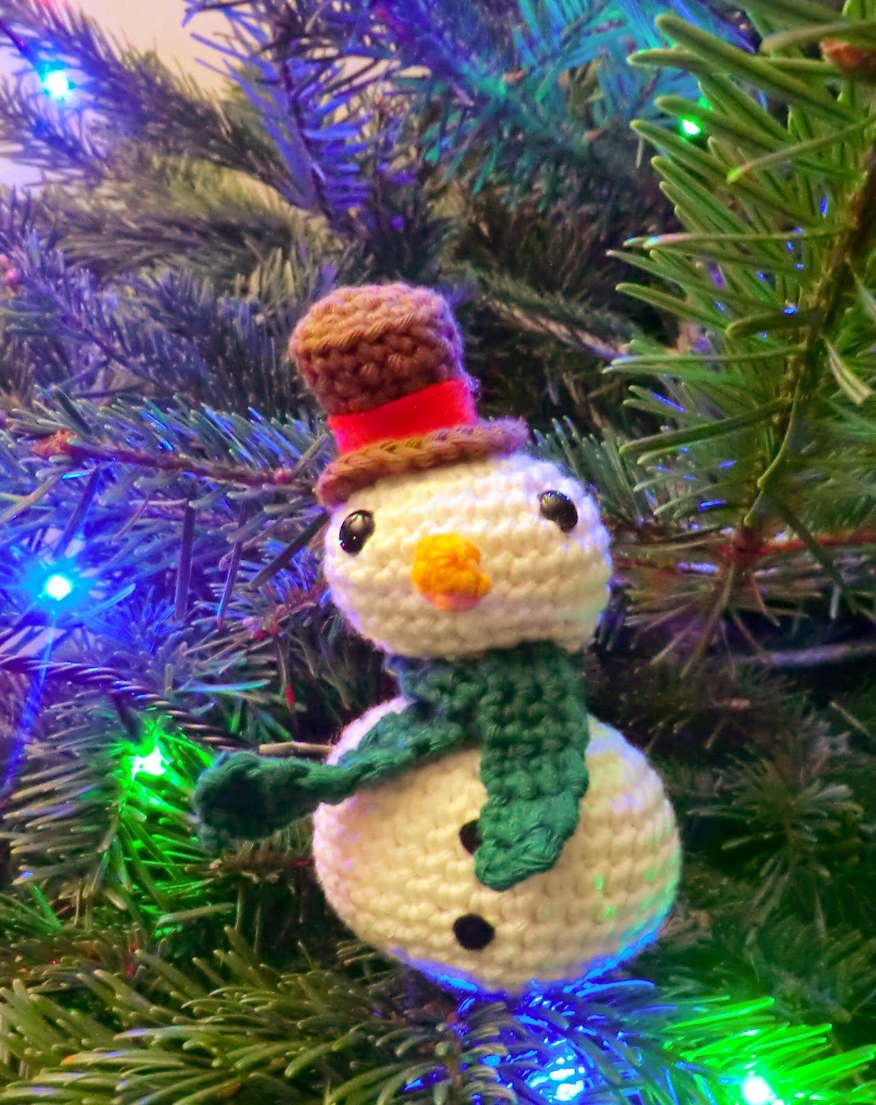 Chubby Snowman ~ Amigurumy Barmy