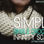 Simply Single Crochet Infinity Scarf ~ Rebecca Langford - Little Monkeys Crochet