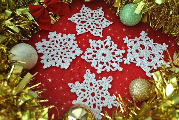5 Free Crochet Snowflakes ~ Jane Green - Beautiful Crochet Stuff