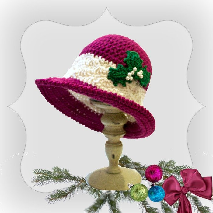 Free Crochet Pattern For Christmas Hat : Holiday Joy ~ FREE Crochet Pattern