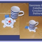 Snowman Mug Coaster ~ Sara Sach – Posh Pooch Designs