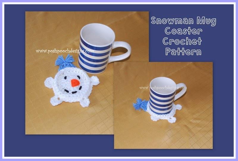 Snowman Mug Coaster ~ Sara Sach - Posh Pooch Designs