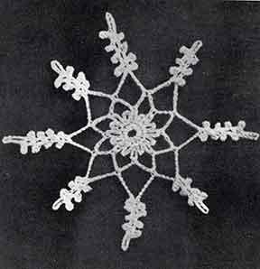 Snowflake Ornament ~ Free Vintage Crochet