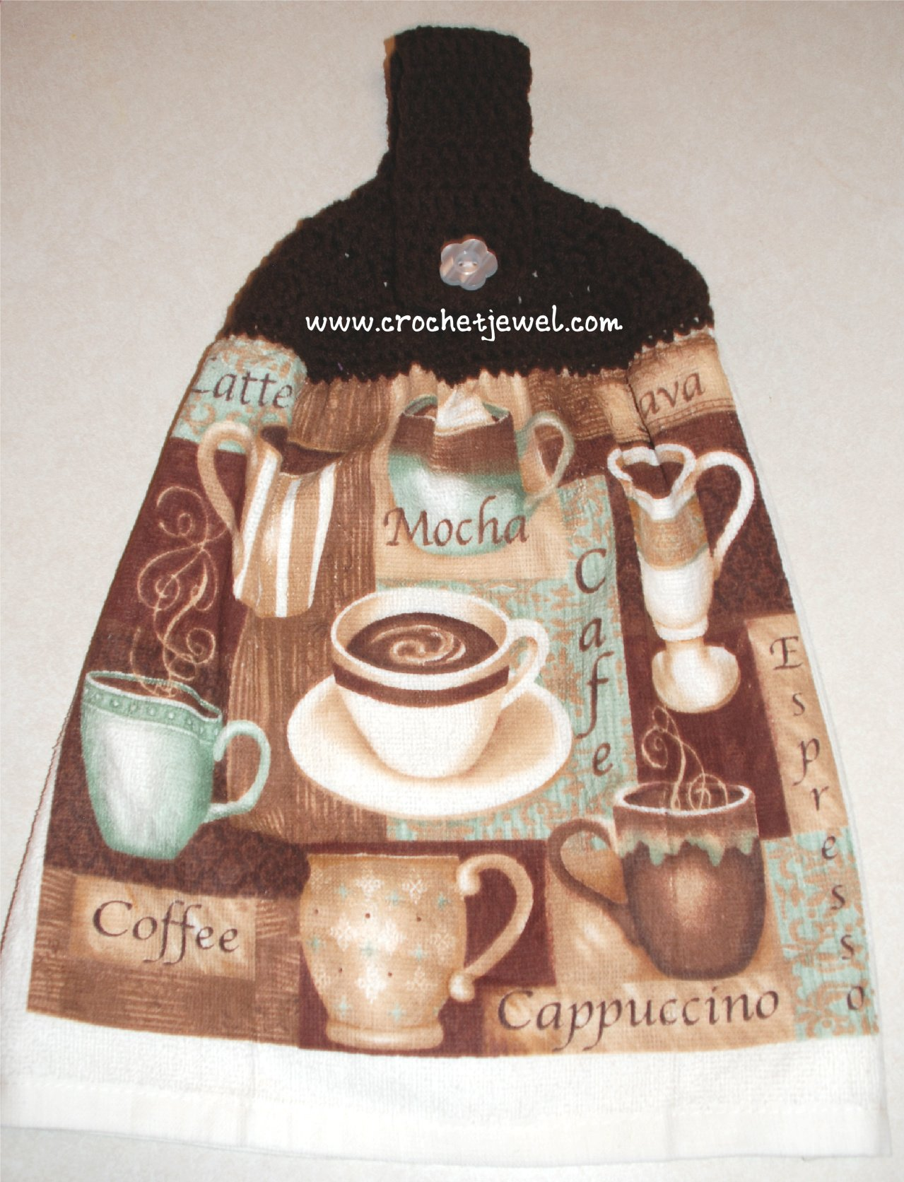 Crochet Kitchen Towel Topper ~ Amy - Crochet Jewel
