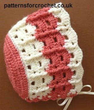 Baby Bonnet ~ Patterns For Crochet