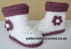 Baby Boots with Cuffs ~ Patterns For Crochet