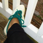 Lace Up Slippers ~ Diva Stitches Crochet Blog