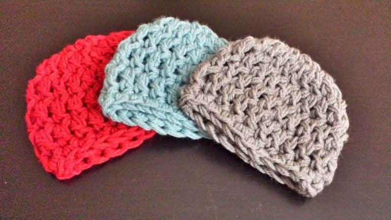 Easy Peasy Crochet Hat Patterns : Easy Peasy Newborn Hat ~ FREE Crochet Pattern