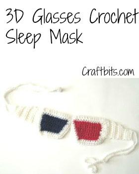 3D Glasses Sleep Mask ~ Craftbits