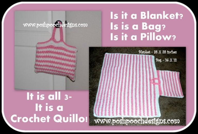 Crochet Quillow Pattern : Blanket In A Bag ~ FREE Crochet Pattern