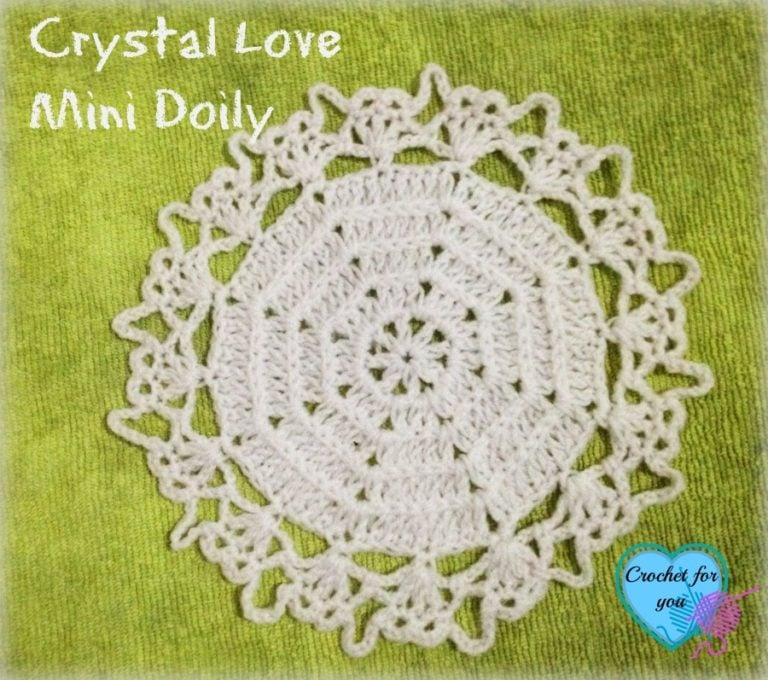 Crystal Love Mini Doily ~ Erangi Udeshika - Crochet For You