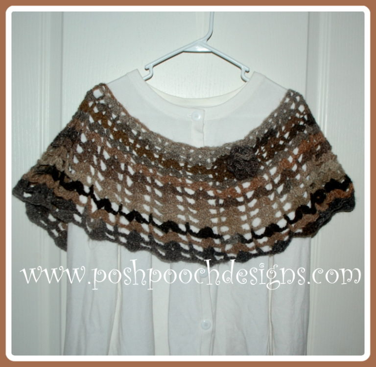 Cobblestone Amazing Poncho ~ Sara Sach - Posh Pooch Designs