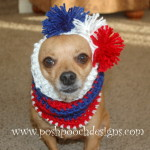 Striped Dog Snood ~ Sara Sach – Posh Pooch Designs